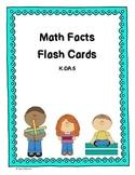 Math facts flash cards K.OA.5