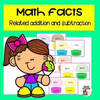 Math facts related addition and subtraction