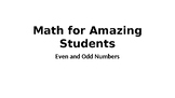 Math for Amazing Students - Even and Odd Numbers by LifeDifferentiated