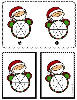 Math for Christmas for 1st and 2nd Grade
