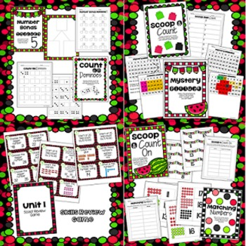 Math for First Grade! Unit 1: Numbers to 50; Lessons and Centers