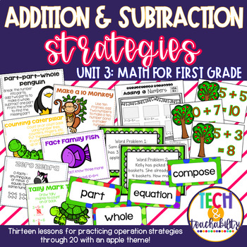 Math for First Grade! Unit 3: Addition and Subtraction Through 20