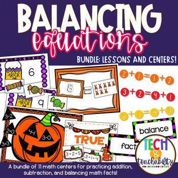 Math for First Grade! Unit 4 BUNDLE: Balancing Facts {Less
