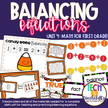 Math for First Grade! Unit 4: Balancing Facts