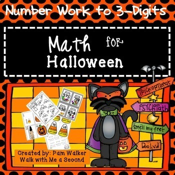 Math for Halloween Numbers to 3-Digit