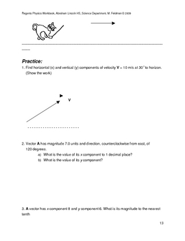 Math for Science/Physics Students: All About Vectors. Worksheets.