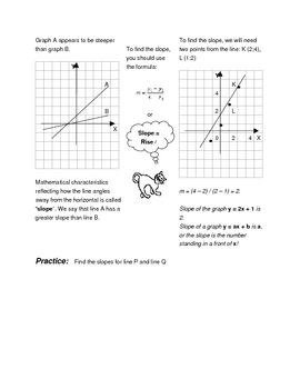 Math for Science Students: Graphs. Worksheets.