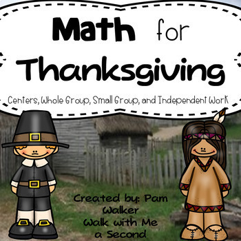 Math for Thanksgiving for 1st and 2nd Grade