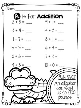 Common Core Math Worksheets (Animal Themed)