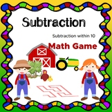 Math game NO PREP Subtraction within 10