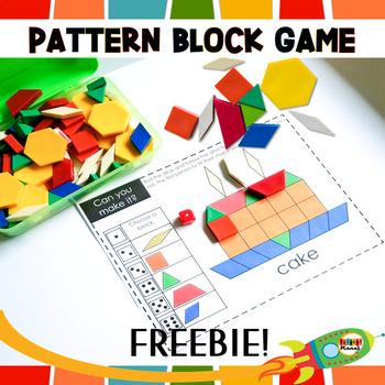 Math games Pattern Block Mats FREEBIE!