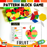 Math games Pattern Block Mats Fruit