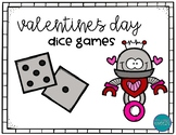Math games-dice edition/Valentine's Day