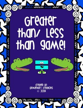Greater/Less than games and more!