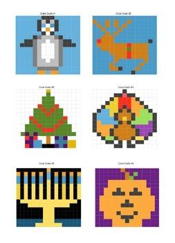 Math grid addition fall/winter themed
