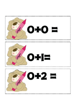 Math has gone to the DOGS! Number cards, addition facts to 5...