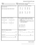 Math homework Mondays sample. 2nd grade