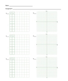 Math homework paper for students with ADHD or Dyslexia: function table w/ graphs