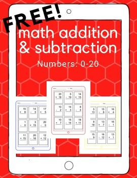 Math: iPad Addition and Subtraction (up to 20)