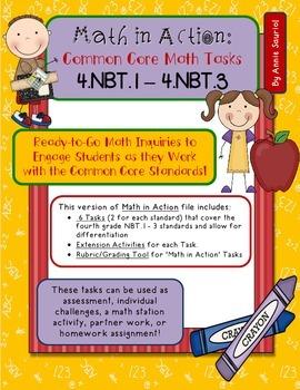 Math in Action: Common Core Math Tasks 4.NBT.1 – 4.NBT.3