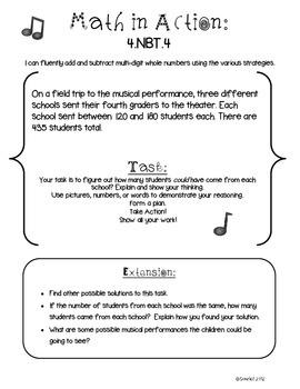 Math in Action: Common Core Math Tasks 4.NBT.4– 4.NBT.6