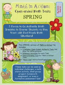Math in Action: SPRING Ready-to-Go Open-Ended Math Tasks C