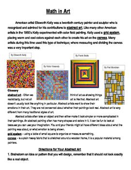 Math in Art - Creating Decimal, Percent, and Fraction Art