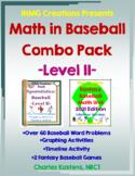 Math in Baseball Combo-II:Baseball Word Problems & Fantasy Baseball Math Unit