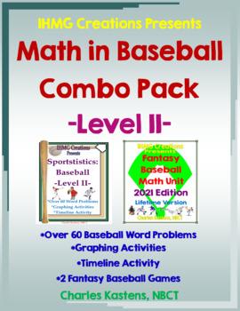 Math in Baseball-Level II: Word Problems & Fantasy Baseball Combo-Lifetime Ed.