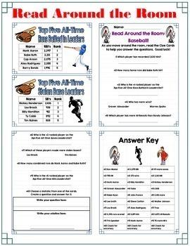 Math in Baseball-Level I: Word Problems & Fantasy Baseball Combo-Lifetime Ed.