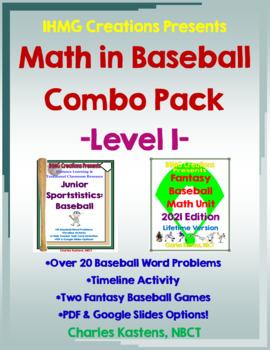 Math in Baseball-Level I Combo--Sportstistics: Baseball I
