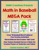Math in Baseball MEGA Combo Pack--Word Problems I & II + Fantasy Baseball X 2