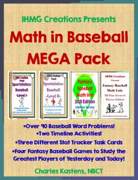 Math in Baseball MEGA Combo Pack--Word Problems I & II + Fantasy Baseball X 2