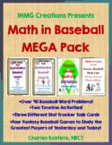 Math in Baseball MEGA Combo Pack--Word Problems I & II + F