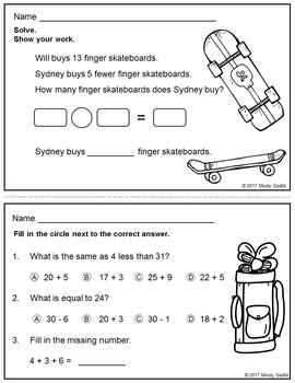Math in Focus 1st Grade, Chapter 13 Review