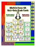 Fourth Grade Math in Focus 4A Vocabulary Quiz-Quiz-Trade Cards