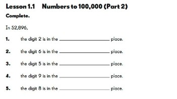 Math in Focus 4th Grade Extra Practice 1.1 Part 2 Google Drive