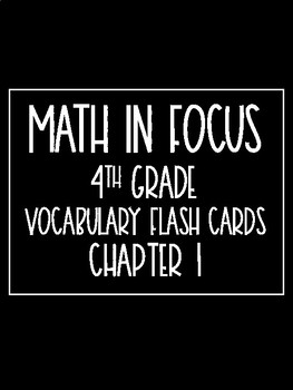Math in Focus 4th Grade Flash Cards Chapter 1