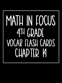 Math in Focus 4th Grade Flash Cards Chapter 14