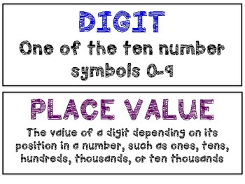Math in Focus Vocabulary 4th Grade Chapter 1