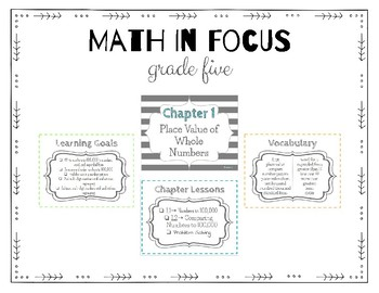 Math in Focus 5th Grade Focus Wall (Chapters 1-7)