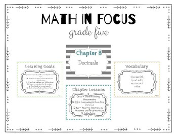 Math in Focus 5th Grade Focus Wall (Chapters 8-15)