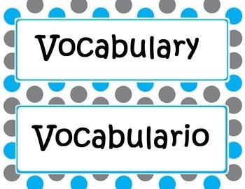 Math in Focus Bilingual Focus Wall Headings