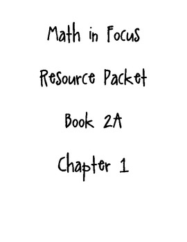 Math in Focus Chapter 1