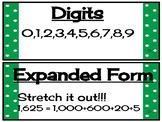Math in Focus Chapter 1 Place Value Vocabulary Cards Grade 3