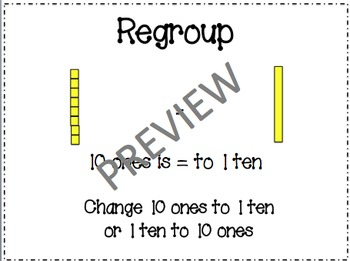 Math in Focus Chapter 13 Vocabulary Cards