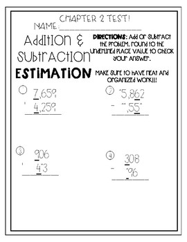 Math in Focus Chapter 2 Test 4th grade
