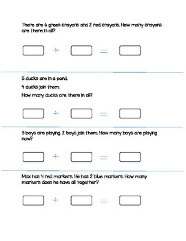 Math in Focus: Chapter 3: Addition Facts to 10 Review Packets- 11 pages!
