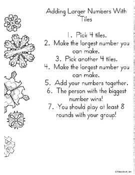 Math in Focus Chapter 3 Centers:  Addition with up to 4 Digits- 3rd grade
