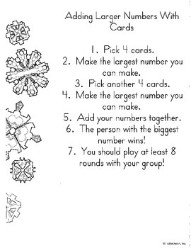 Math in Focus Chapter 3 Centers:  Addition with up to 4 Di